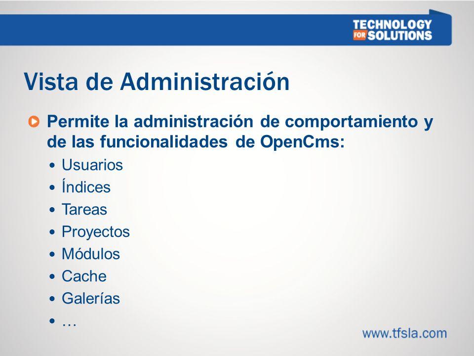 Vista de Administración