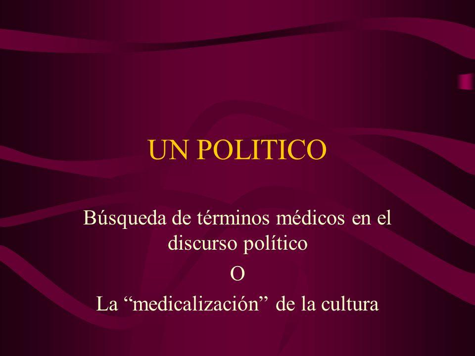 UN POLITICO Búsqueda de términos médicos en el discurso político O