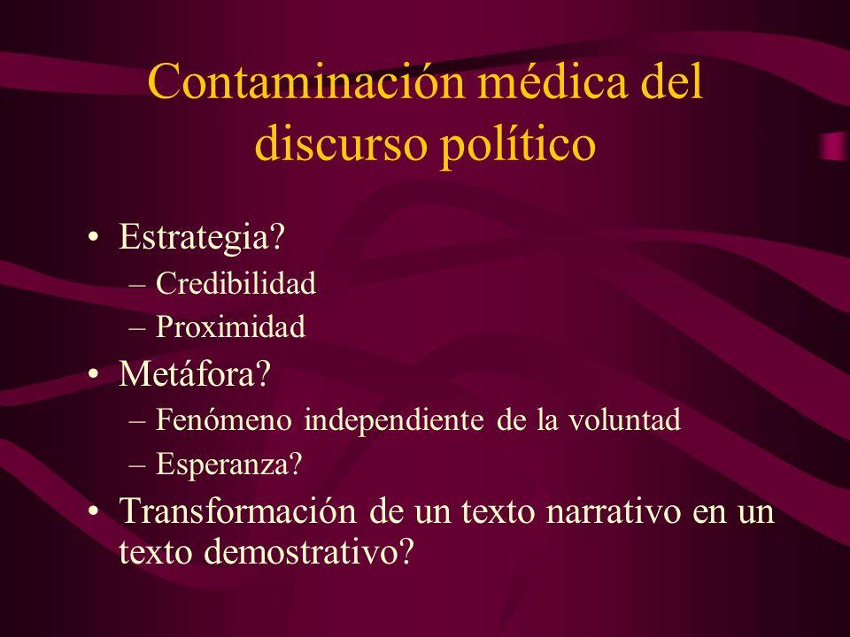 Contaminación médica del discurso político