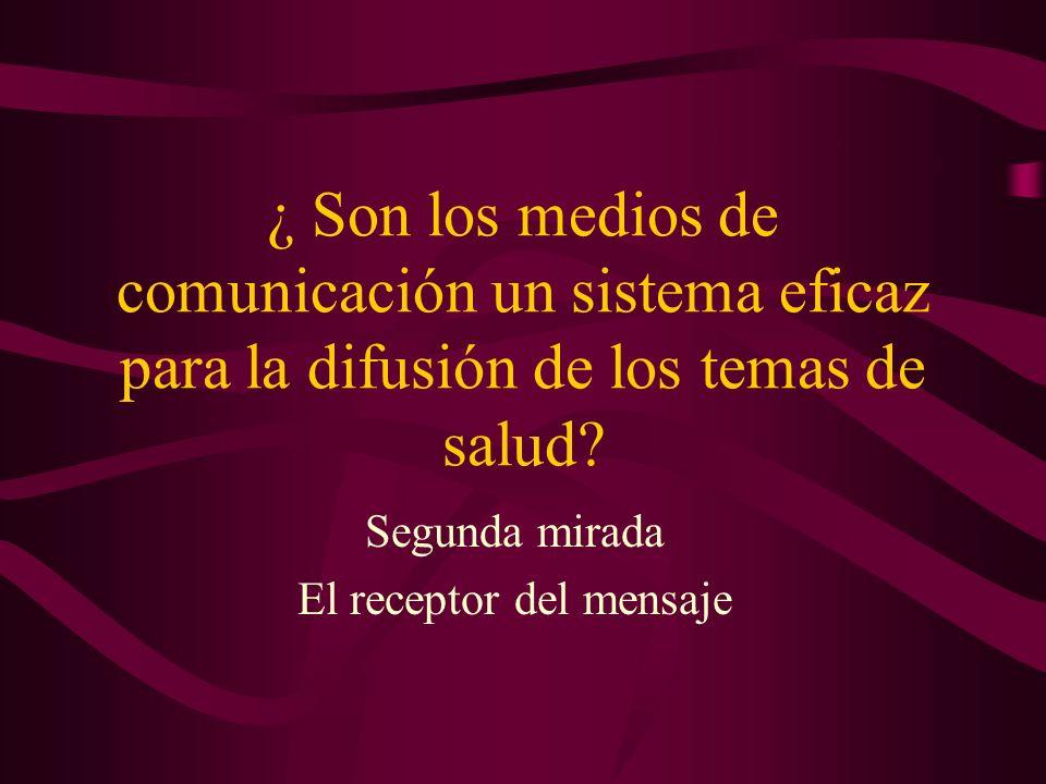 El receptor del mensaje