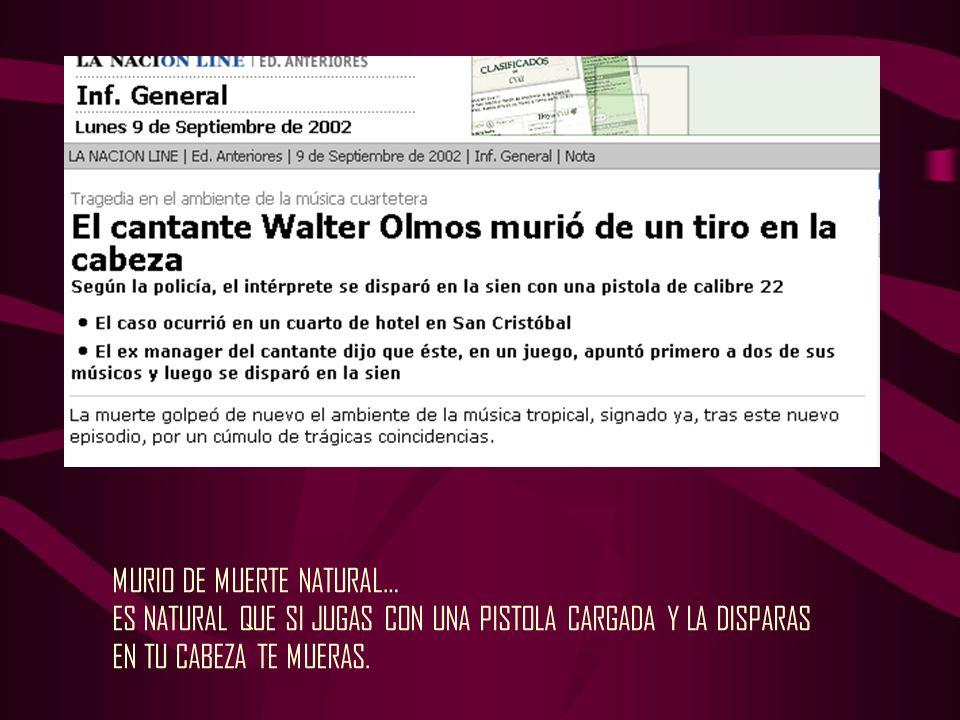 MURIO DE MUERTE NATURAL…