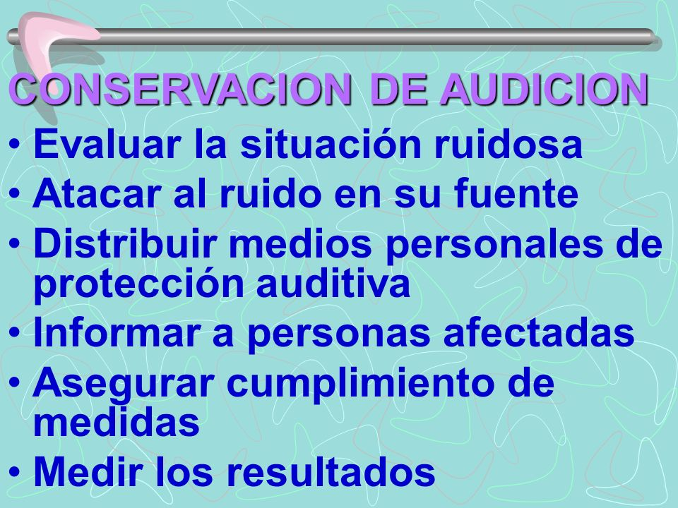 CONSERVACION DE AUDICION