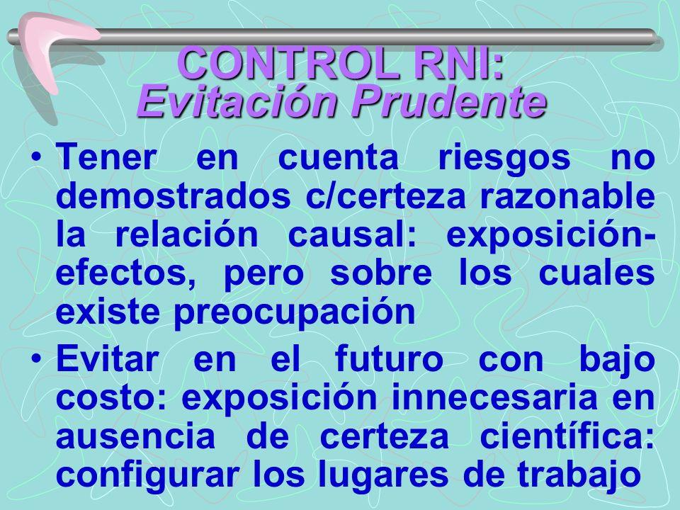 CONTROL RNI: Evitación Prudente