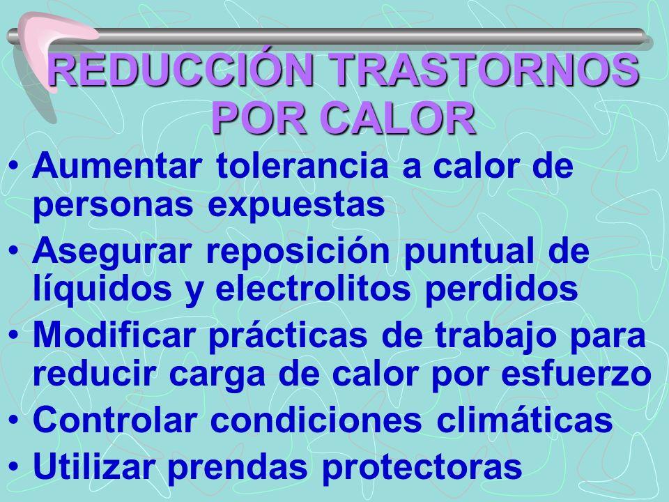 REDUCCIÓN TRASTORNOS POR CALOR