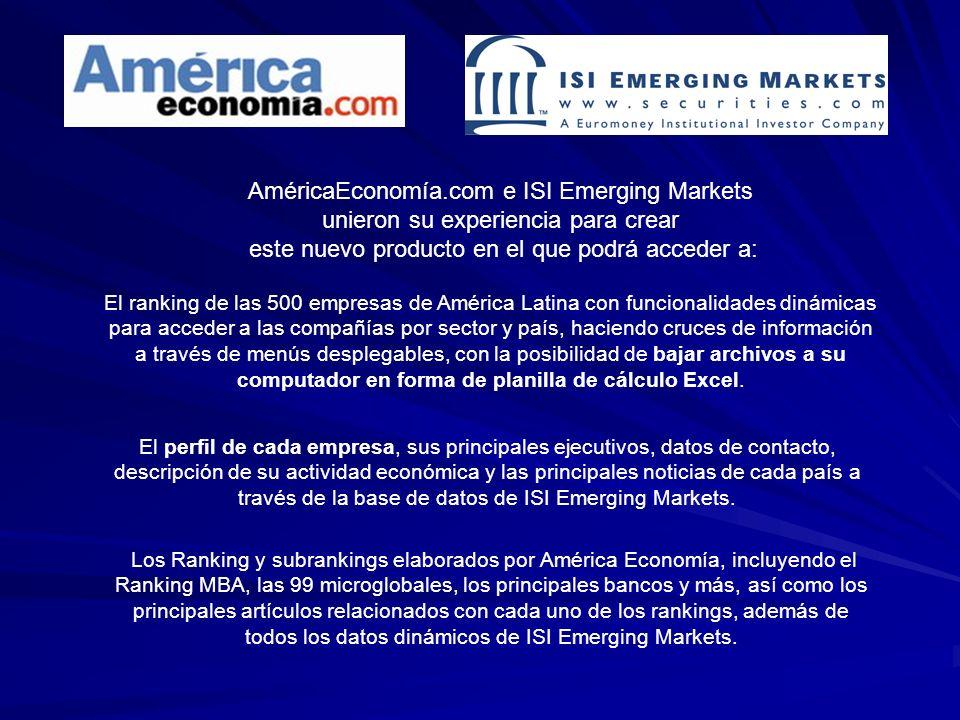 AméricaEconomía.com e ISI Emerging Markets