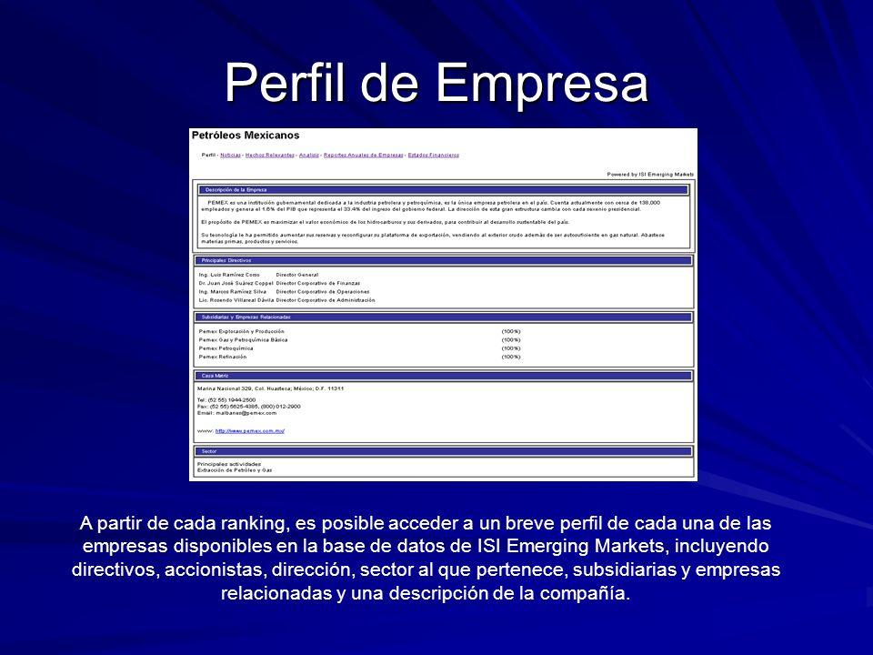 Perfil de Empresa