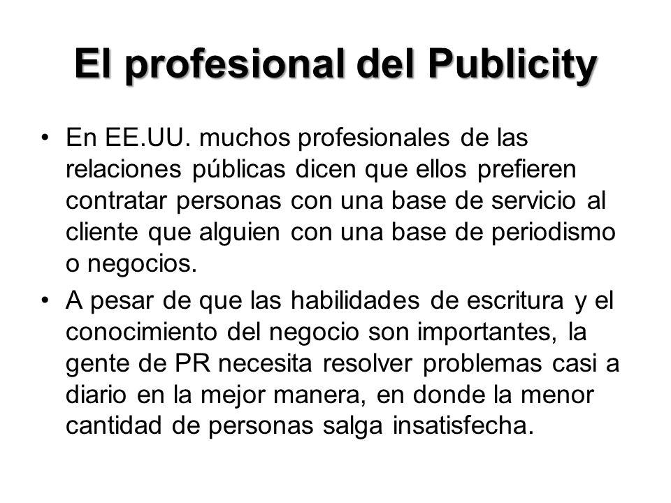 El profesional del Publicity