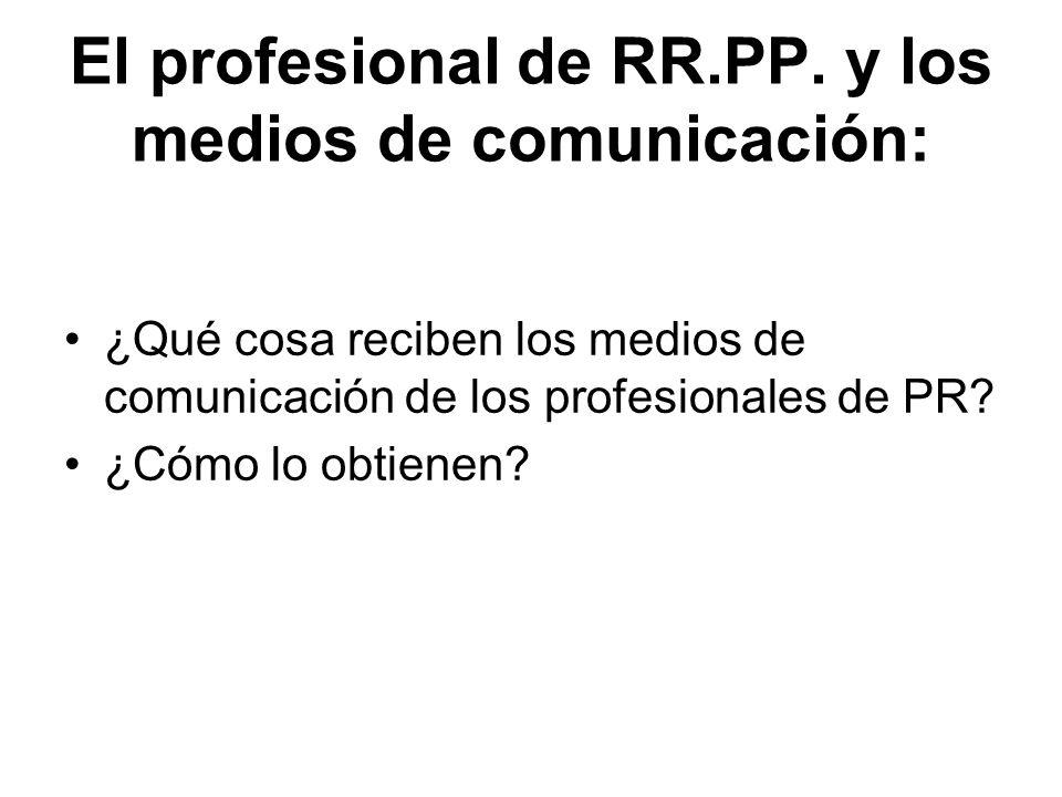 El profesional de RR.PP. y los medios de comunicación: