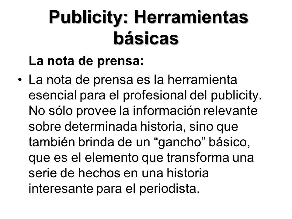 Publicity: Herramientas básicas