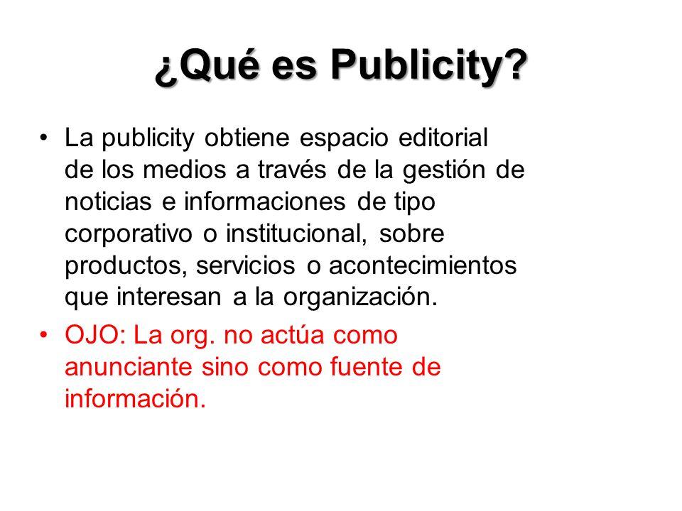 ¿Qué es Publicity