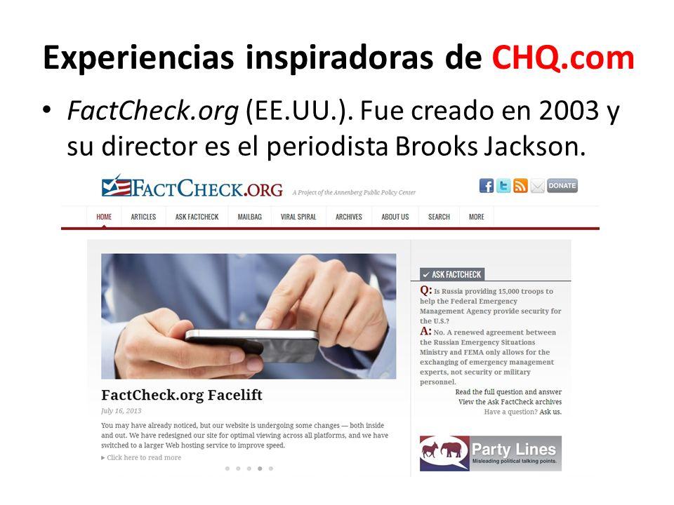 Experiencias inspiradoras de CHQ.com