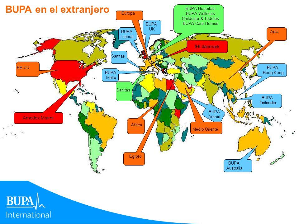 BUPA en el extranjero IHI danmark Amedex Miami BUPA Hospitals
