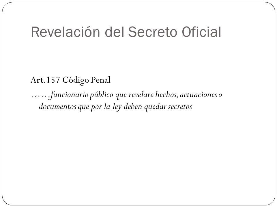 Revelación del Secreto Oficial