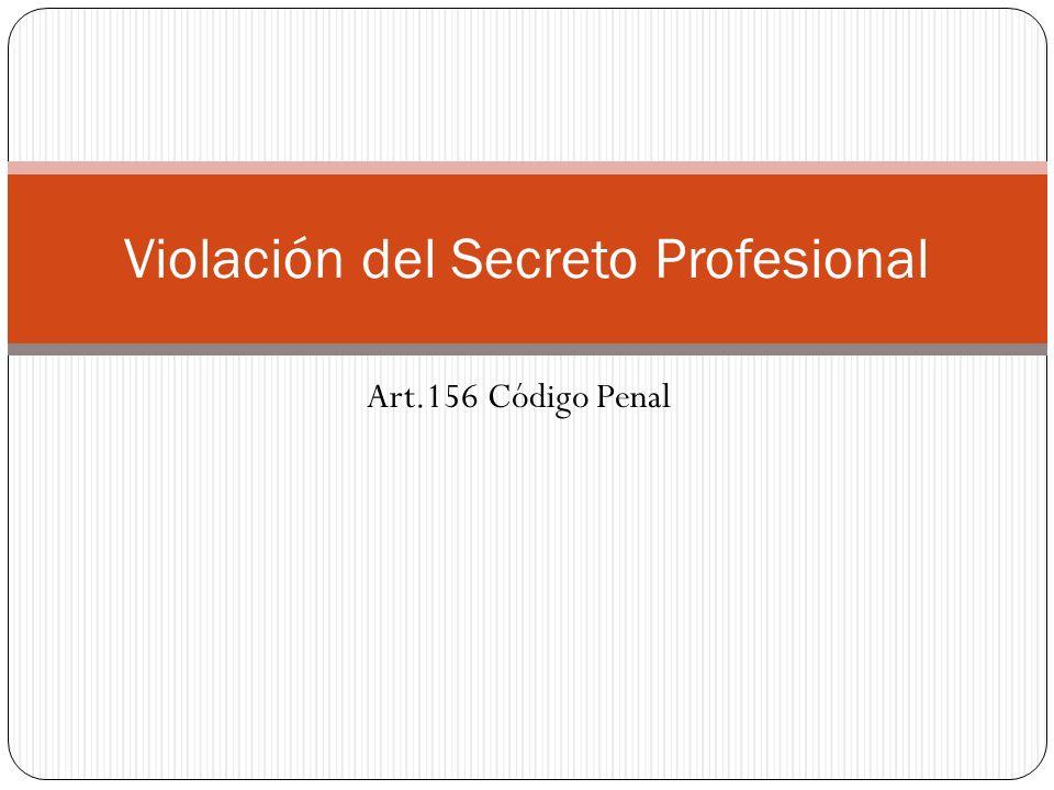 Violación del Secreto Profesional