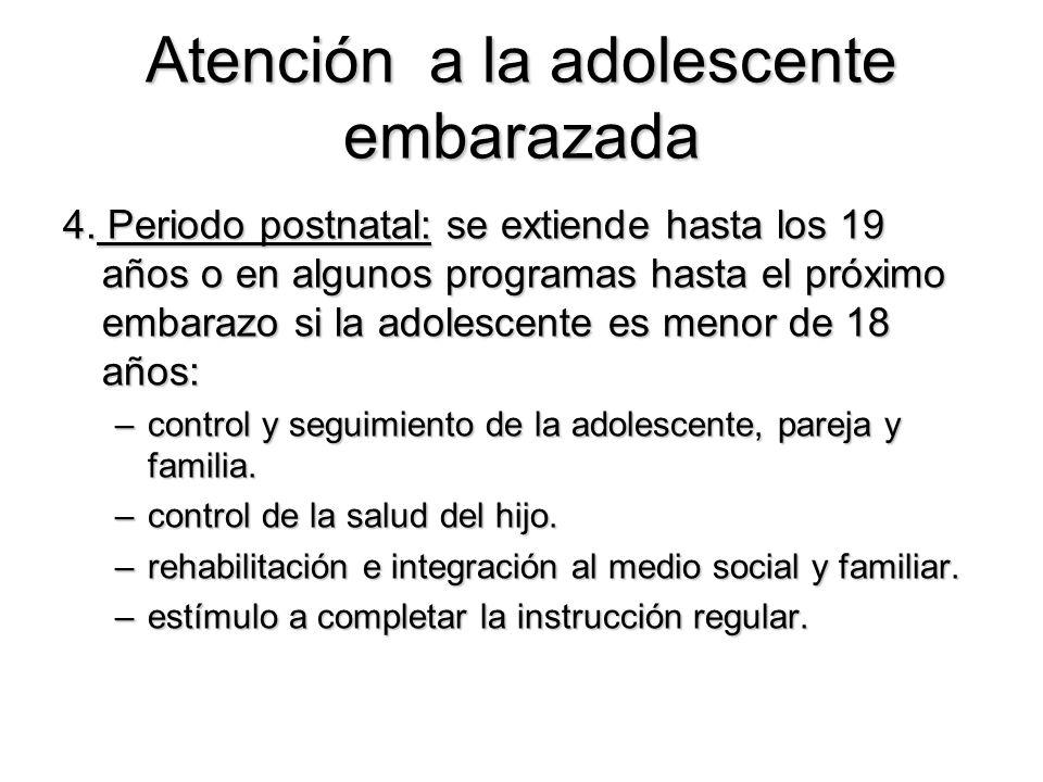 Atención a la adolescente embarazada