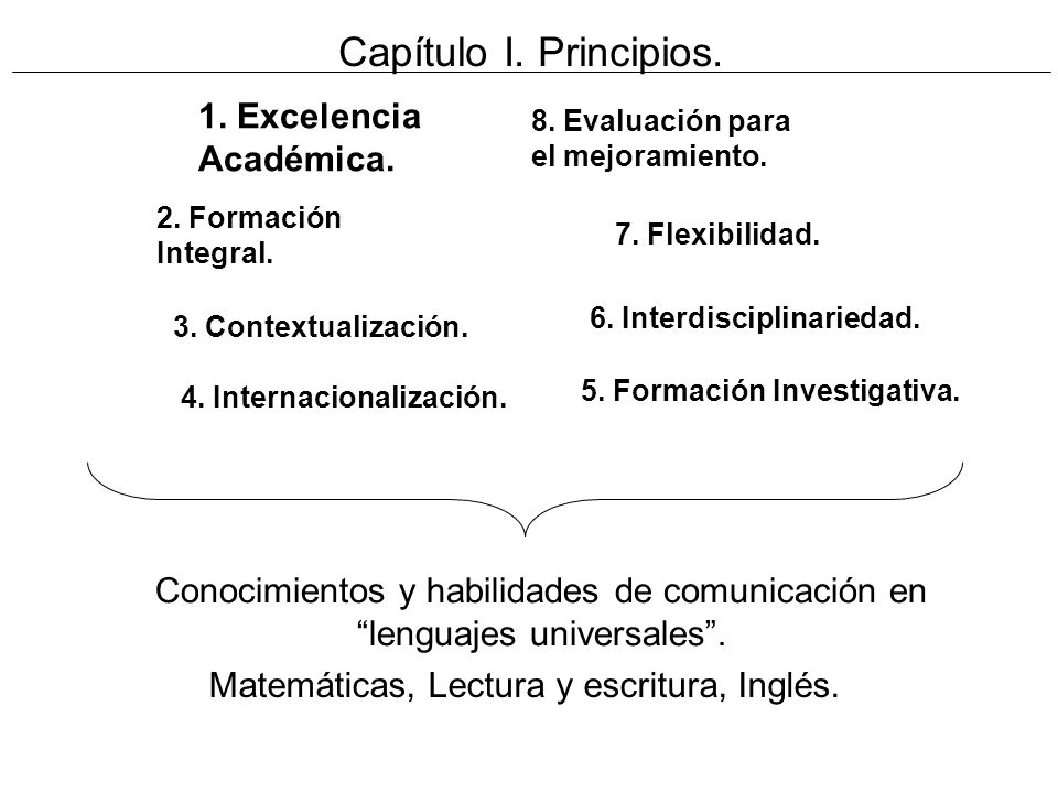 Capítulo I. Principios. 1. Excelencia Académica.