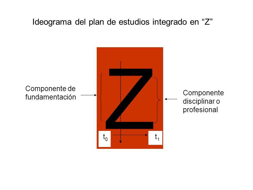 Ideograma del plan de estudios integrado en Z