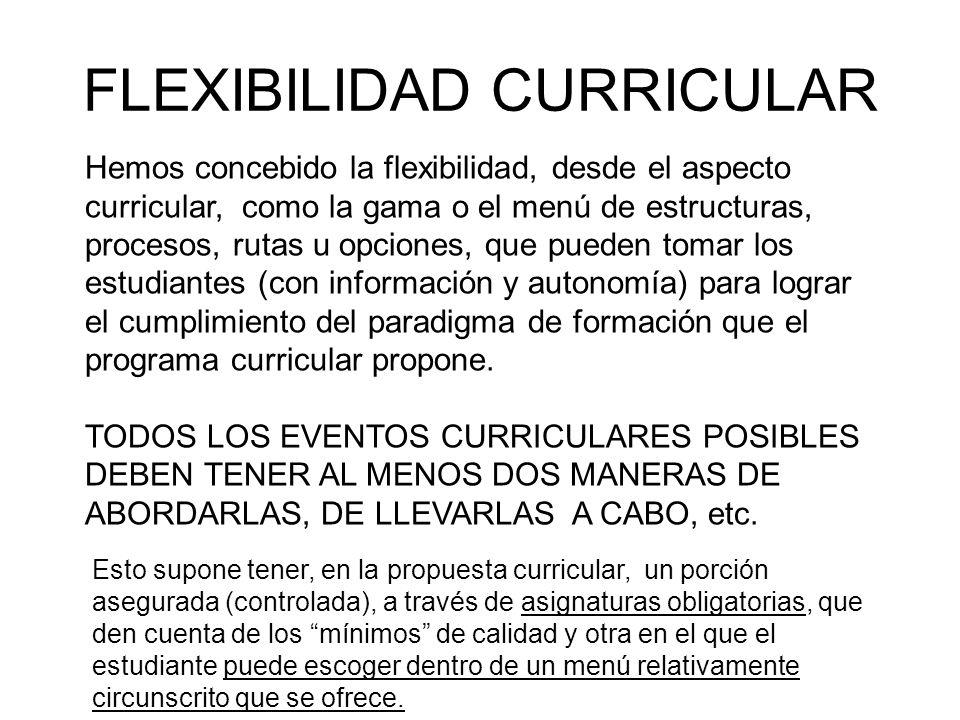 FLEXIBILIDAD CURRICULAR