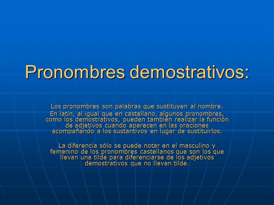 Pronombres demostrativos: