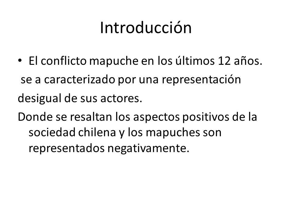 Introducción El conflicto mapuche en los últimos 12 años.