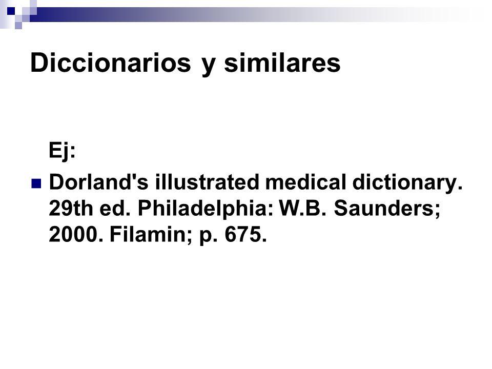 Diccionarios y similares