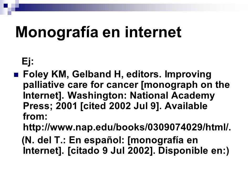 Monografía en internet