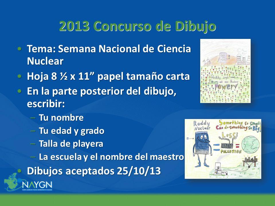 2013 Concurso de Dibujo Tema: Semana Nacional de Ciencia Nuclear
