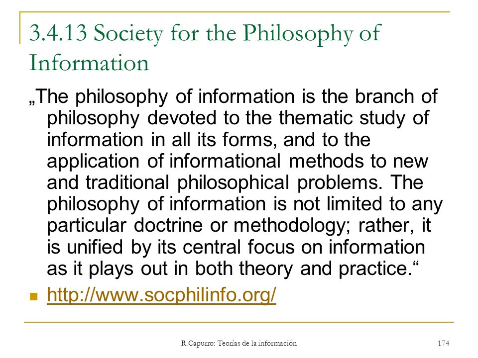 3.4.13 Society for the Philosophy of Information