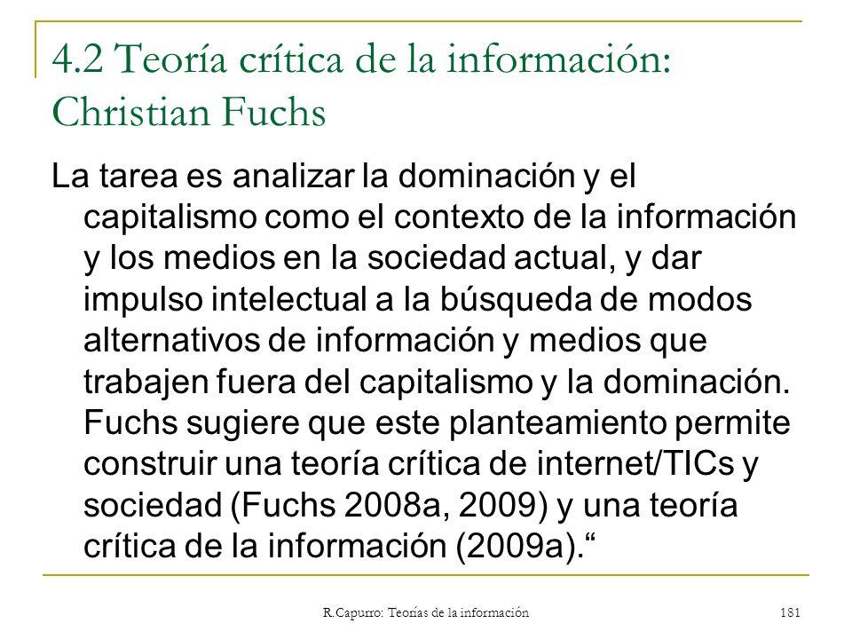 4.2 Teoría crítica de la información: Christian Fuchs