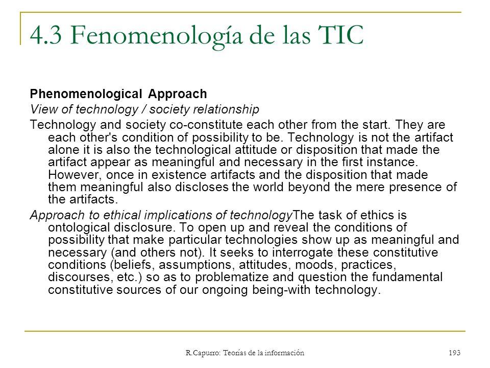 4.3 Fenomenología de las TIC