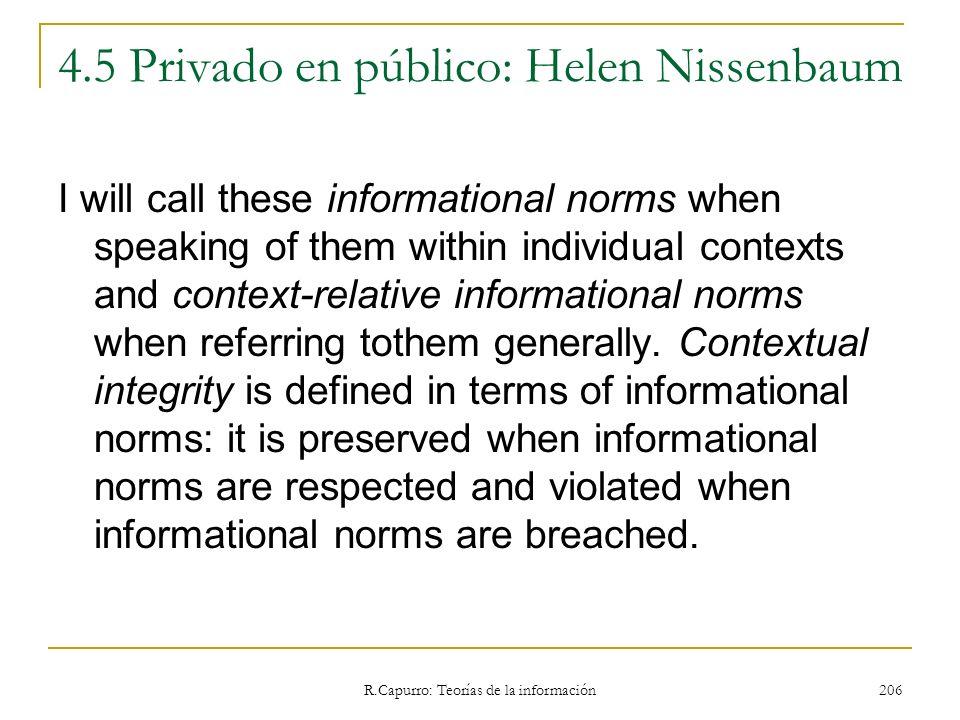 4.5 Privado en público: Helen Nissenbaum