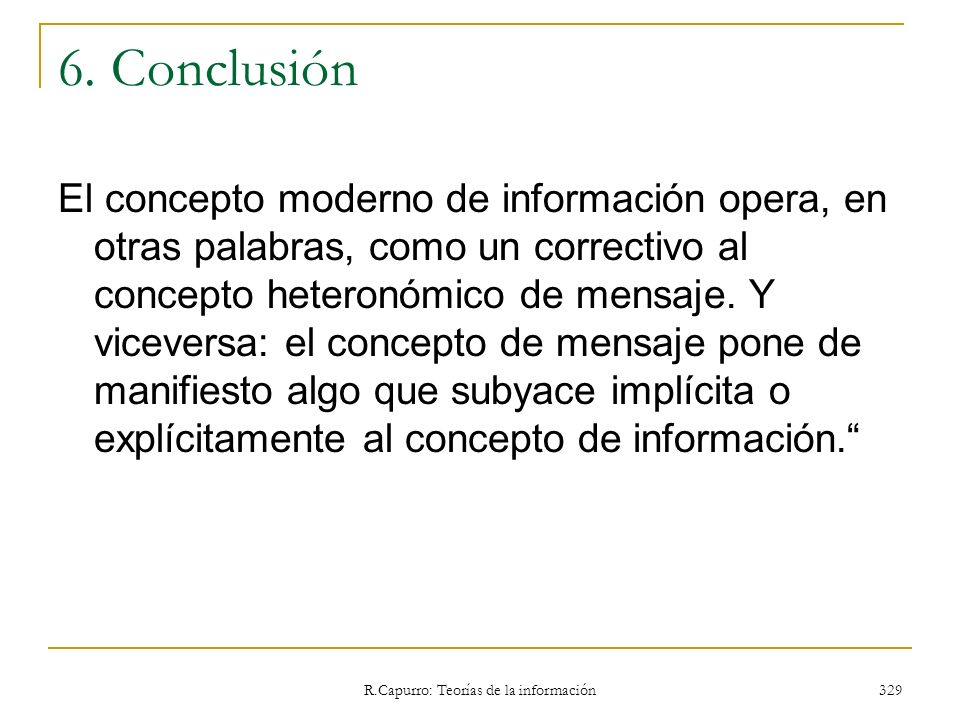 R.Capurro: Teorías de la información