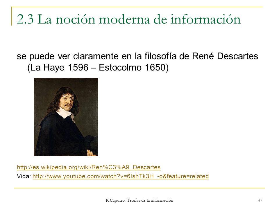 2.3 La noción moderna de información