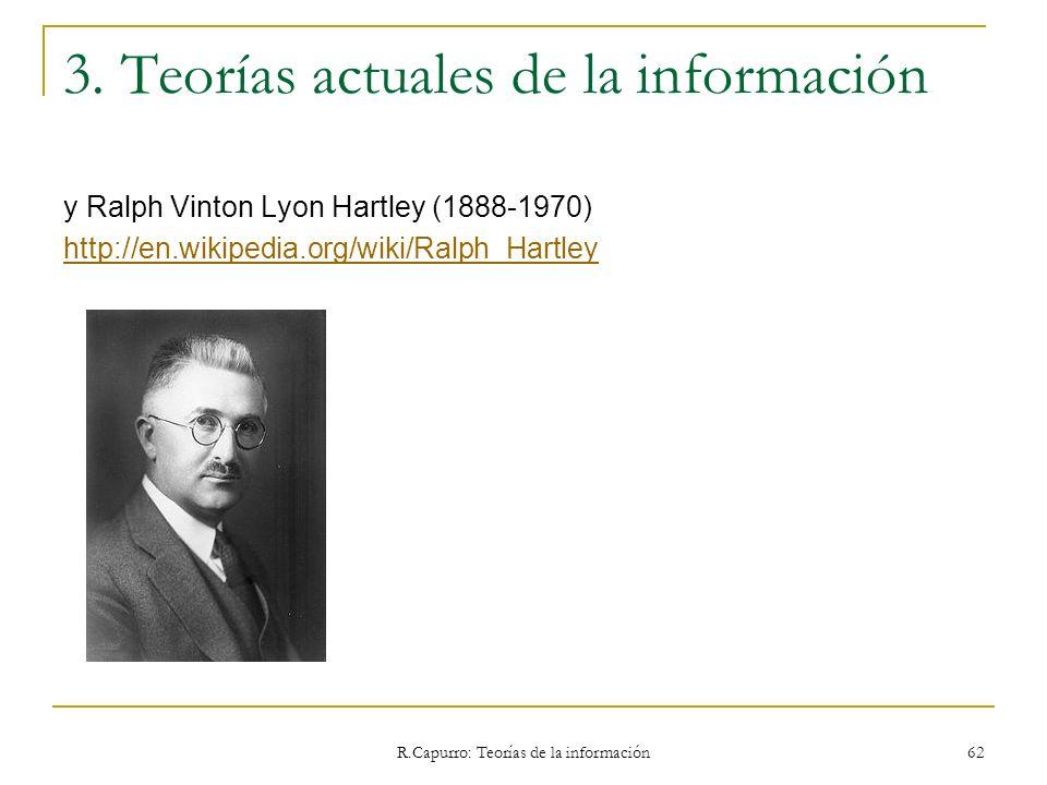 3. Teorías actuales de la información