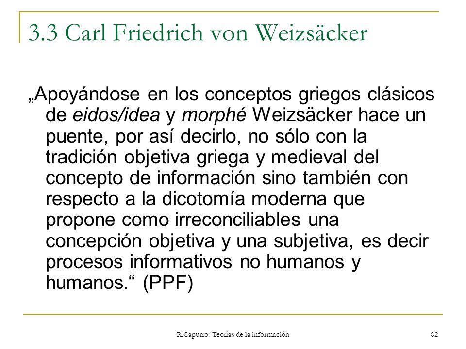 3.3 Carl Friedrich von Weizsäcker
