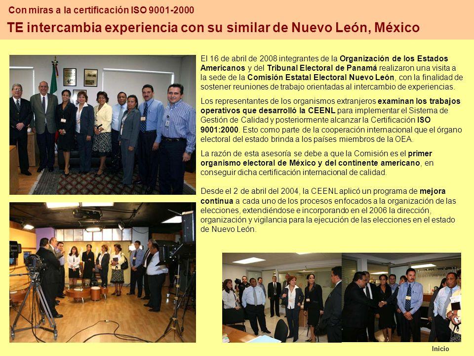 TE intercambia experiencia con su similar de Nuevo León, México