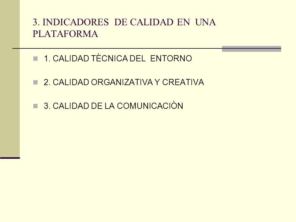 3. INDICADORES DE CALIDAD EN UNA PLATAFORMA