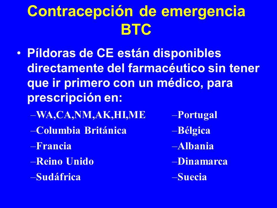 Contracepción de emergencia BTC