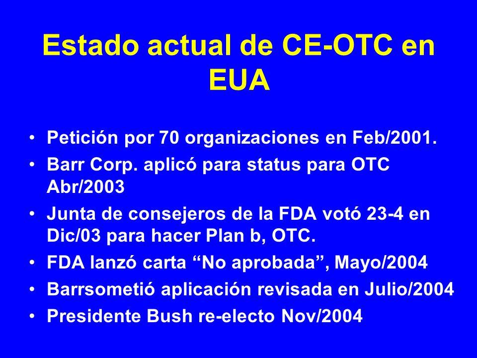 Estado actual de CE-OTC en EUA