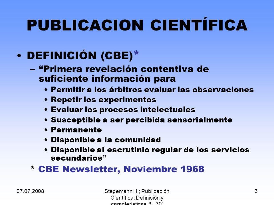 PUBLICACION CIENTÍFICA