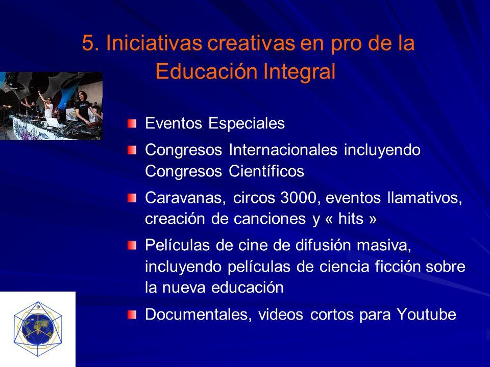 5. Iniciativas creativas en pro de la Educación Integral