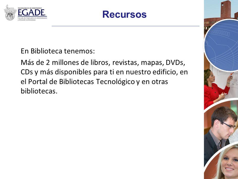 Recursos En Biblioteca tenemos: