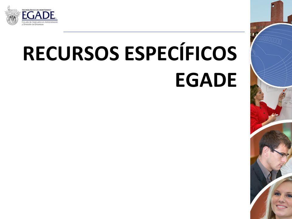RECURSOS ESPECÍFICOS EGADE