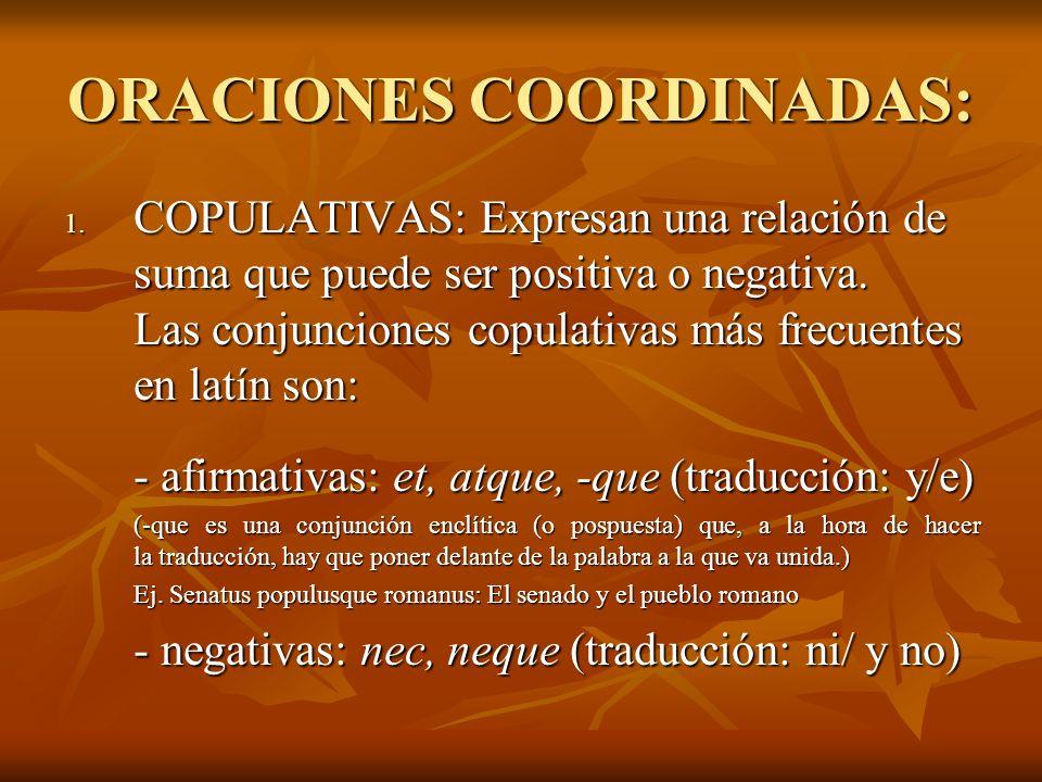 ORACIONES COORDINADAS:
