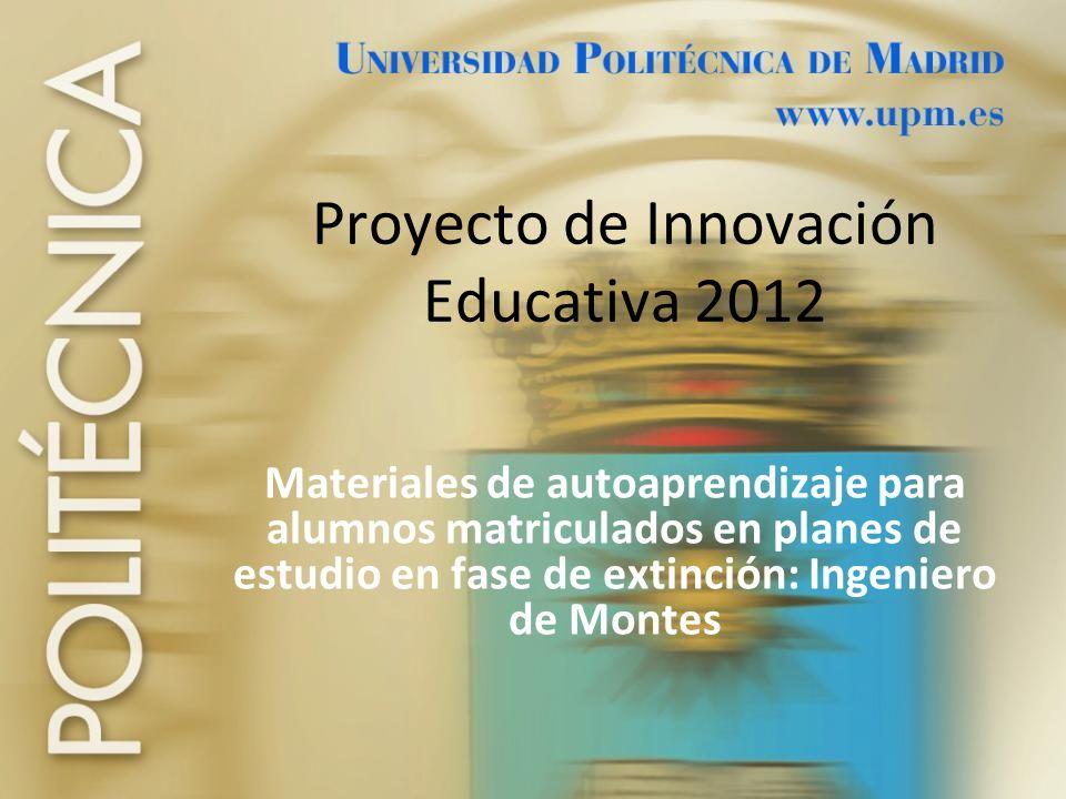 Proyecto de Innovación Educativa 2012