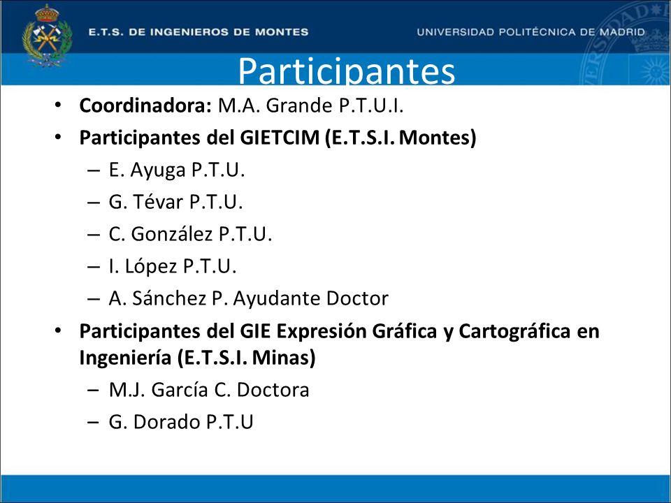 Participantes Coordinadora: M.A. Grande P.T.U.I.