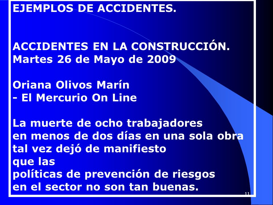 EJEMPLOS DE ACCIDENTES.