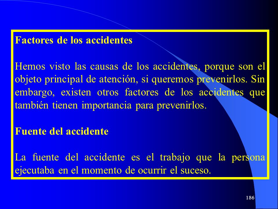 Factores de los accidentes
