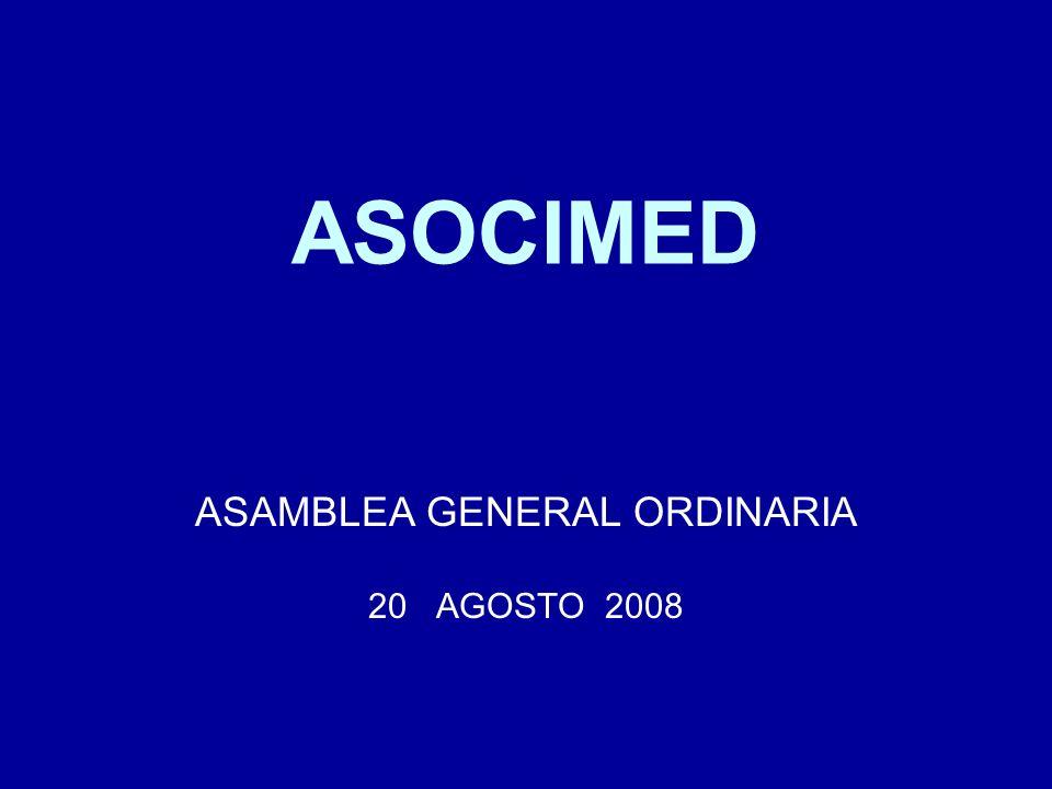 ASAMBLEA GENERAL ORDINARIA 20 AGOSTO 2008