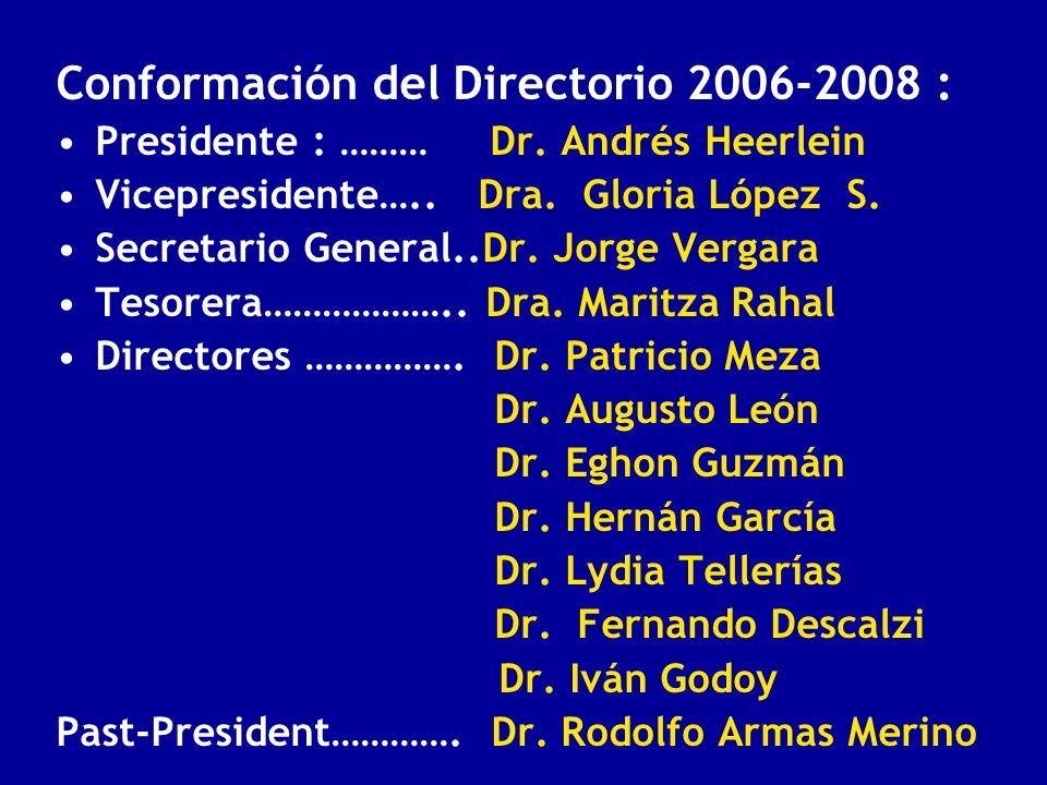 Conformación del Directorio 2006-2008 :